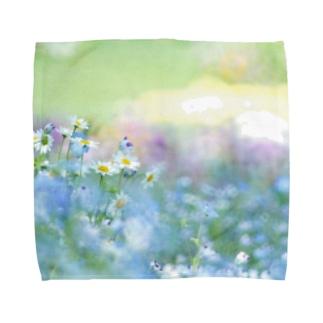 春の花園 Towel handkerchiefs