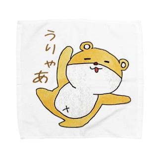 ゆるいくまのうりゃあ Towel handkerchiefs