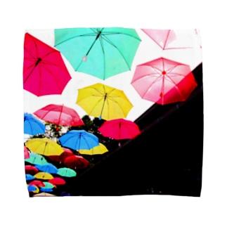雨の日ハンカチ☔ Towel handkerchiefs