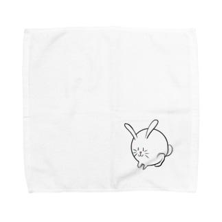 丸いうさぎ Towel handkerchiefs