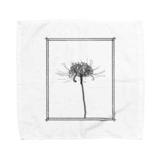 一輪【彼岸花】 Towel handkerchiefs