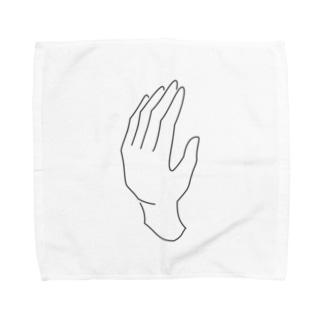 シンプルな手 Towel handkerchiefs