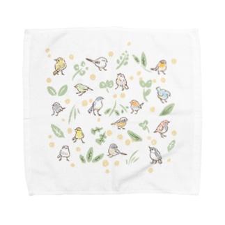 日本の野鳥たち Towel handkerchiefs