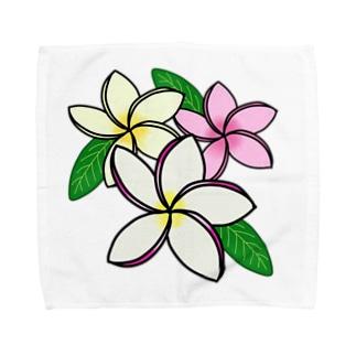 プルメリア三姉妹♪ Towel handkerchiefs