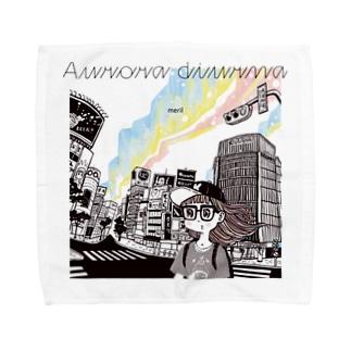 「Aurora diurna」ジャケデザイン2 Towel handkerchiefs
