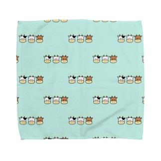うし、みっつです Towel handkerchiefs