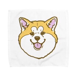 秋田犬ハッピースマイル赤毛 Towel handkerchiefs