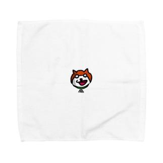 「ほら来た。きんぽくん。」ハンカチ Towel handkerchiefs