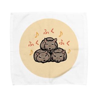 デグーふくふくふく Towel Handkerchief