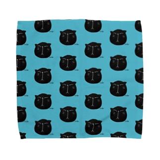 黒にゃんこ🎶 Towel handkerchiefs