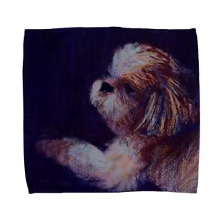 犬. moonlight Towel handkerchiefs