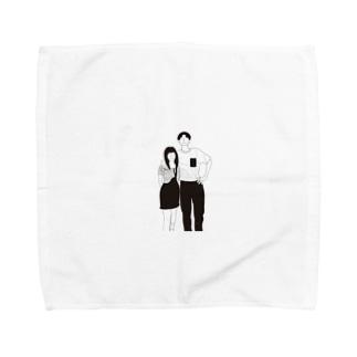 couple Towel handkerchiefs