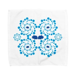 G・Tと渦 Towel handkerchiefs