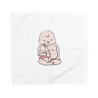 ムチムチ親子 Towel handkerchiefs