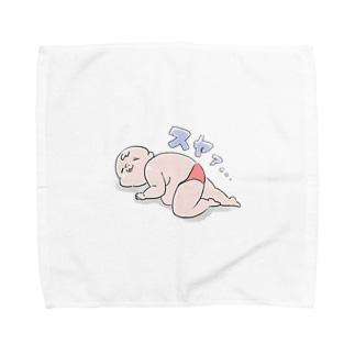 ねむるおじさん Towel handkerchiefs