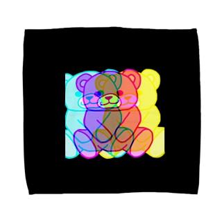 くまちゃん(ブラック) Towel handkerchiefs