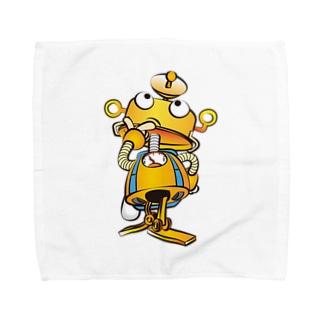 ろぼとくんwithランドセル&給食袋 Towel handkerchiefs