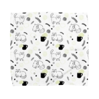猫と暮らし テキスタイルデザイン Towel handkerchiefs