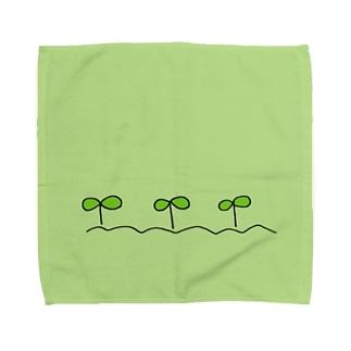 芽がでた! Towel handkerchiefs