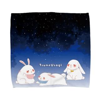 野中初音のつねうさぎの夜 Towel handkerchiefs