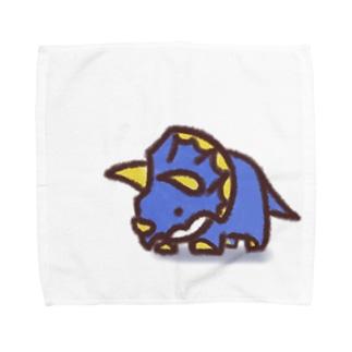 クレヨン トリケラトプスくん Towel handkerchiefs