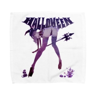 HALLOWE'EN WITCH 彼女はウィッチ パープル Towel handkerchiefs