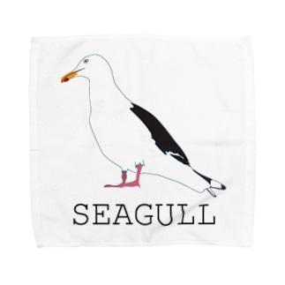 港の王者オオセグロカモメ君 Towel handkerchiefs