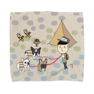 ボーイ君のお散歩〜finchさん Towel handkerchiefs