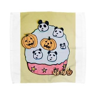 ハロウィンパンダ Towel handkerchiefs