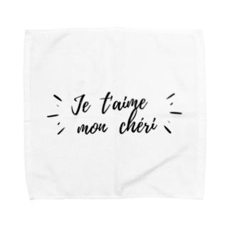 Maison Fenninger (メゾン フェナジェ)の愛してる♡ (フランス語) Towel handkerchiefs