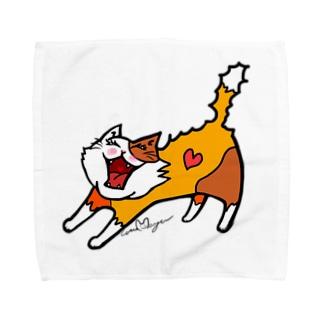 ノビーにゃんこ(ノーマルバージョン) Towel handkerchiefs