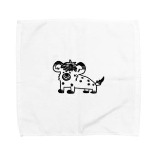イタズラっこなブチハイエナ Towel handkerchiefs