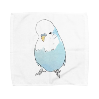 可愛いジャンボセキセイインコ【まめるりはことり】 Towel Handkerchief