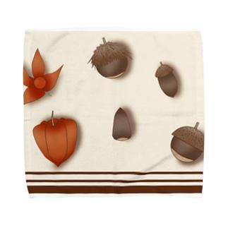 秋の遊び Towel handkerchiefs