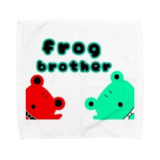 カエルの兄弟 Towel handkerchiefs