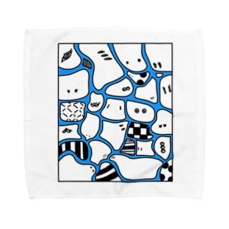 CHIMI☆CHIMI MOURYOU 青 Towel handkerchiefs