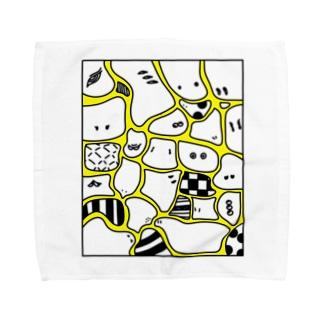 CHIMI☆CHIMI MOURYOU 黄 Towel handkerchiefs