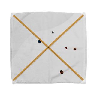 ビーティングネットとテントウムシ Towel handkerchiefs