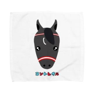 うま 馬 けいば 競馬 コントレイル  Towel handkerchiefs
