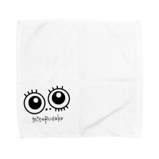 目玉☆見てるだけ Towel handkerchiefs