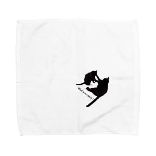 Wait a moment! Towel handkerchiefs
