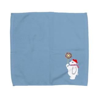 ジブくまちゃんハンカチ Towel handkerchiefs