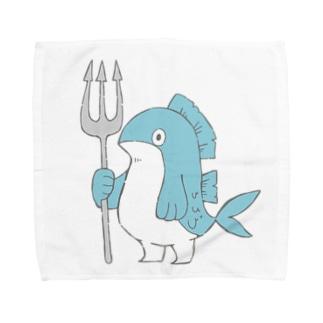 ぎょじん(色付き) Towel handkerchiefs