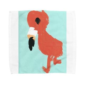 フラミンゴべぇちゃん Towel handkerchiefs