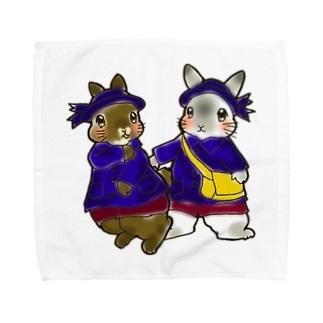 園児うさちゃんず。 Towel handkerchiefs