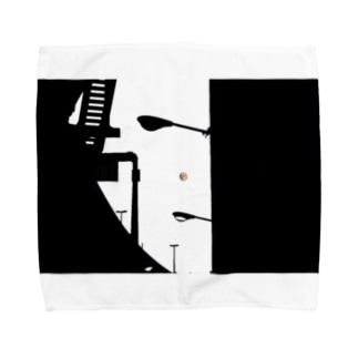 街灯と高速 Towel handkerchiefs