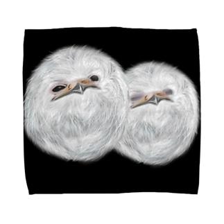 シリウスの匣のガマグチヨタカの雛 Towel handkerchiefs