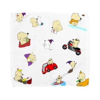 クソ犬詰め合わせ Towel handkerchiefs