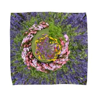 ぐるぐる花々 Towel handkerchiefs