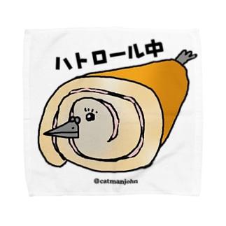 ハトロール中〜spin cat Towel handkerchiefs